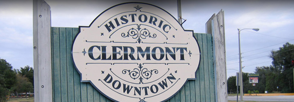 clermont historic downtown sign