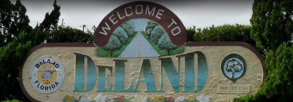 deland city sign