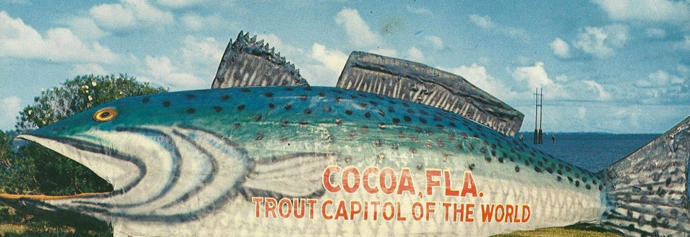 giant grout that says cocoa, FLA.